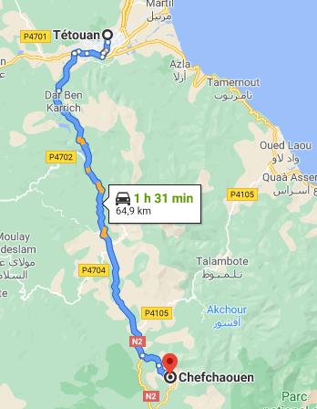 Traslado desde Tetuán a Chefchaouen