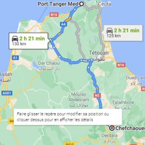 Traslado desde el Puerto de Tánger Med a Chefchaouen
